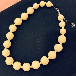 Oversized yellow necklace